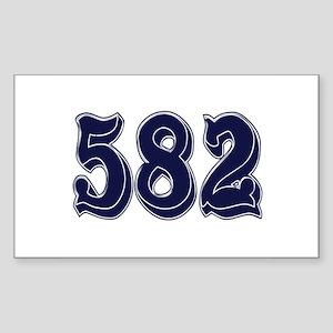 582 Rectangle Sticker