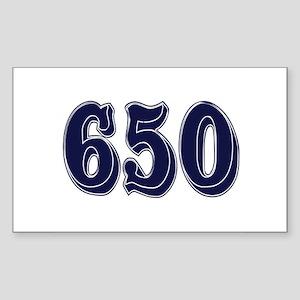 650 Rectangle Sticker