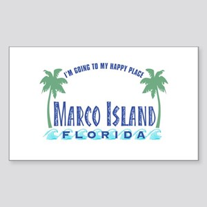 Marco Island Happy Place - Rectangle Sticker
