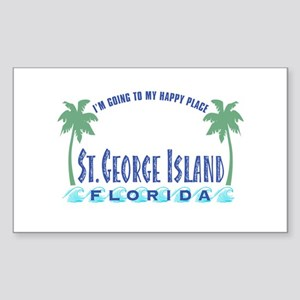 St. George Happy Place - Rectangle Sticker