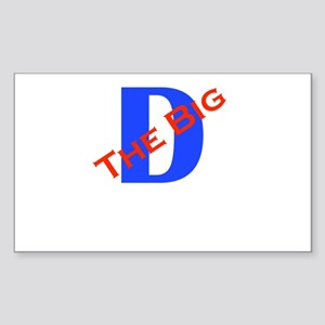 The Big D Rectangle Sticker