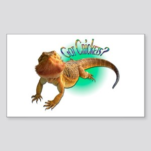 Bearded Dragon Got Crickets 5 Rectangle Sticker