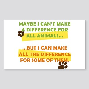 Making a Difference Rectangle Sticker