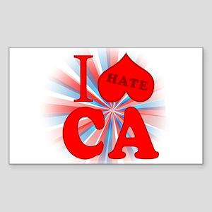I No Heart California Rectangle Sticker