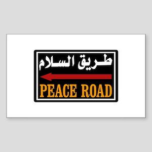 Peace Rd, Egypt Rectangle Sticker