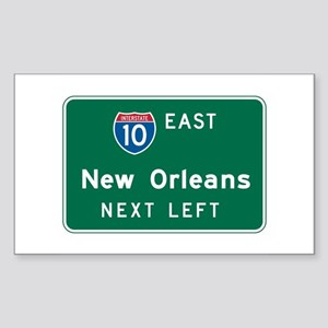 New Orleans, LA Highway Sign Rectangle Sticker