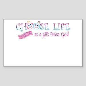 Choose Life Sticker (Rectangle)