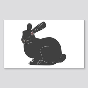 Death Bunny Rectangle Sticker