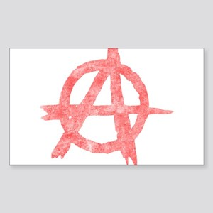 Vintage Anarachy Symbol Rectangle Sticker