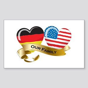 Germany/USA Flag_Our Family Rectangle Sticker