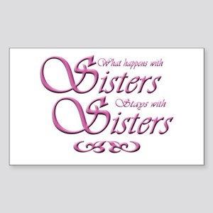 sisters10x10 Sticker (Rectangle)