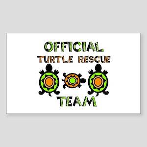 Turtle Rescue Rectangle Sticker