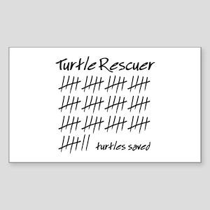 Turtle Rescuer Rectangle Sticker
