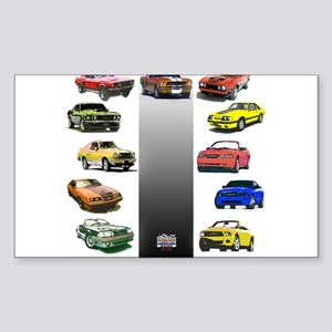 Mustang Gifts Sticker (Rectangle)