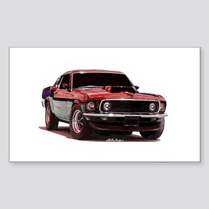 Mustang 1969 Rectangle Sticker