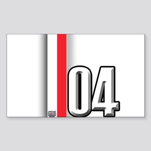 2004 Red White Sticker (Rectangle)