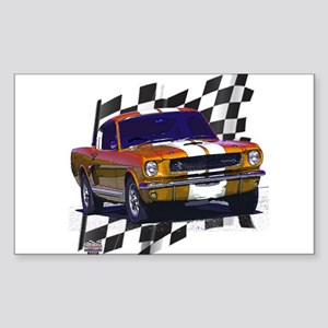 1966 Mustang Rectangle Sticker