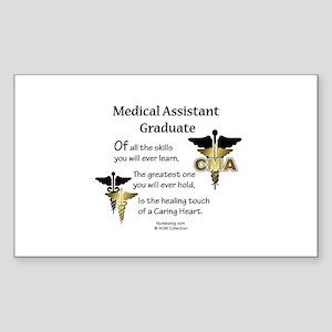 Medical Assistant Graduate Rectangle Sticker CD
