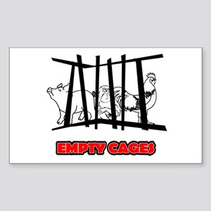 Empty Cages Sticker (Rectangle)