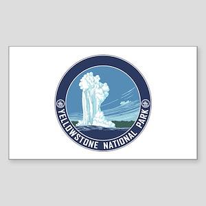 Yellowstone Travel Souvenir Sticker (Rectangle)