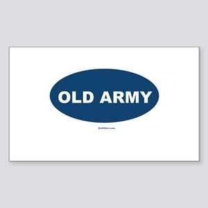 Old Army Dad Sticker (Rectangle)