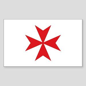 Maltese Cross Sticker (Rectangle)