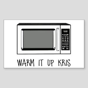 Warm it Up Kris Sticker (Rectangle)