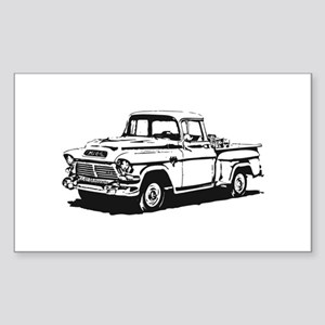 Old GMC pick up Sticker (Rectangle)