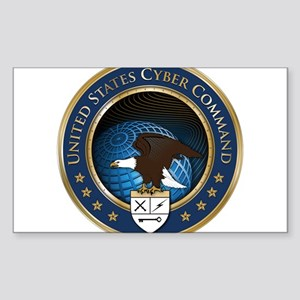 United States Cyber Command Sticker (Rectangle)