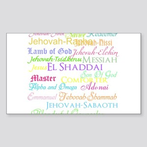 Names of God Sticker (Rectangle)