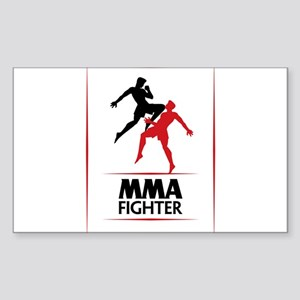 MMA Fighter Sticker (Rectangle)