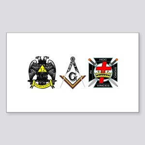 Multiple Masonic Bodies Sticker (Rectangle)