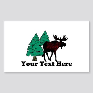 Personalized Moose Sticker (Rectangle)