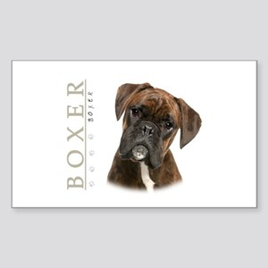 Brindle Boxer Sticker (Rectangle)
