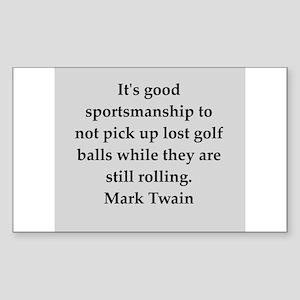 Mark Twain quote Sticker (Rectangle)