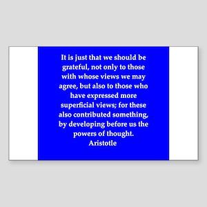 Wisdom of Aristotle Sticker (Rectangle)