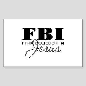 Firm Believer in Jesus Sticker (Rectangle)