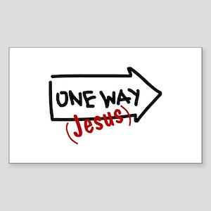 One Way (Jesus) Sticker (Rectangle)