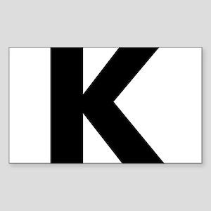 Letter K Sticker (Rectangle)