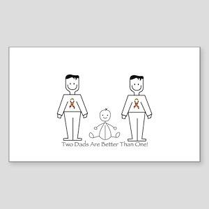 2 Dads (LGBT) Sticker (Rectangle)
