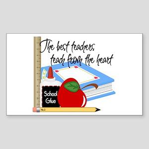 Teach From Heart Sticker (Rectangle)