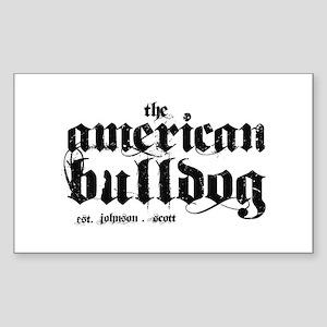 American Bulldog Sticker (Rectangle)