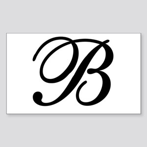 INITIAL B MONOGRAM Sticker (Rectangle)