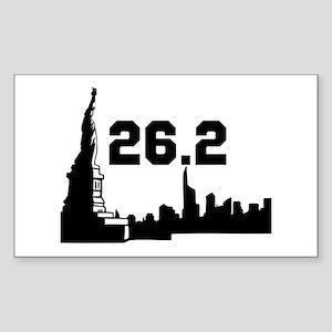 New York Marathon 26.2 Sticker (Rectangle)