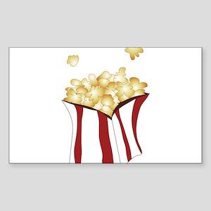 Popcorn Sticker (Rectangle)