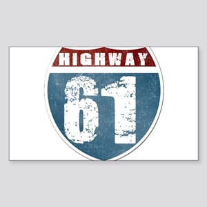 Highway 61 Sticker (Rectangle)