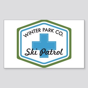 Winter Park Ski Patrol Patch Sticker (Rectangle)
