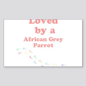 Loved by aAfrican Grey Parrot Sticker (Rectangle)