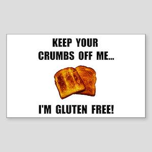 Crumbs Off Me Gluten Free Sticker