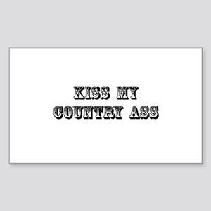 Kiss My Country Sticker